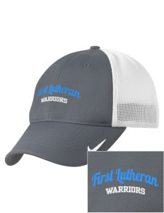 First Lutheran School Warriors Embroidered Nike Golf Mesh Back Cap
