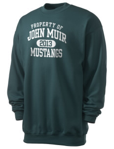 John Muir Middle School Mustangs Men's 7.8 oz Lightweight Crewneck Sweatshirt