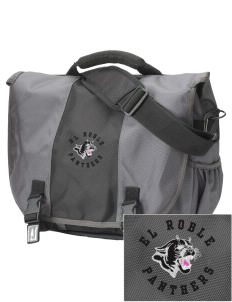 El Roble Intermediate School Panthers  Embroidered Montezuma Messenger Bag