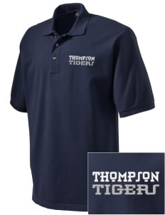 Thompson Elementary School Tigers Embroidered Tall Men's Pique Polo