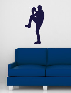 "Thompson Elementary School Tigers Wall Silhouette Decal 20"" x 32"""