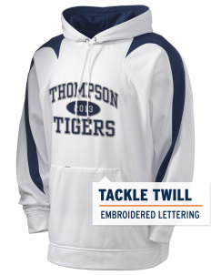 Thompson Elementary School Tigers Holloway Men's Sports Fleece Hooded Sweatshirt with Tackle Twill