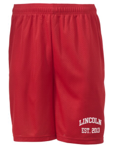 "Lincoln Elementary School Lions Men's Mesh Shorts, 7-1/2"" Inseam"