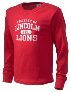 Lincoln Elementary School Lions  Kid's Long Sleeve T-Shirt