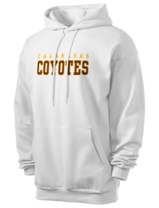 Calabasas High School Coyotes Men's 7.8 oz Lightweight Hooded Sweatshirt