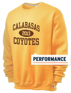 Calabasas High School Coyotes  Russell Men's Dri-Power Crewneck Sweatshirt