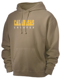 Calabasas High School Coyotes Men's 80/20 Pigment Dyed Hooded Sweatshirt