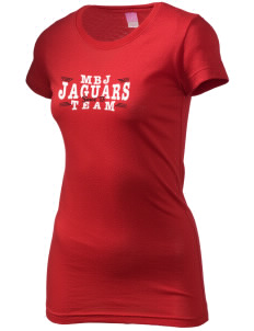 Mildred B Janson Elementary School Jaguars  Juniors' Fine Jersey Longer Length T-Shirt
