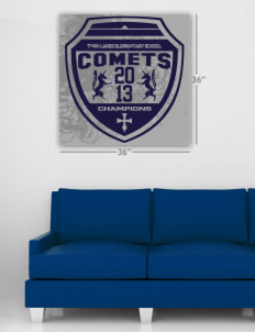 "Twin Lakes Elementary School Comets Wall Poster Decal 36"" x 36"""