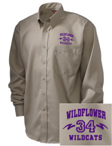 Wildflower Elementary School Wildcats  Embroidered Men's Nailhead Non-Iron Button-Down