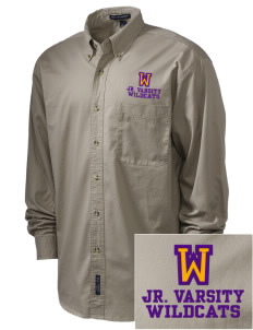 Wildflower Elementary School Wildcats Embroidered Men's Twill Shirt