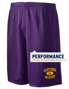 "Wildflower Elementary School Wildcats Holloway Men's Speed Shorts, 9"" Inseam"