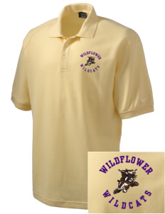 Wildflower Elementary School Wildcats Embroidered Nike Men's Pique Knit Golf Polo