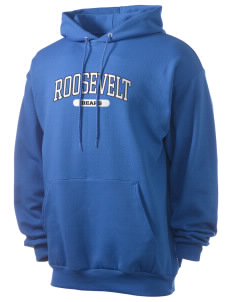Roosevelt Elementary School Bears Men's 7.8 oz Lightweight Hooded Sweatshirt