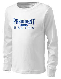 President Elementary School Eagles  Kid's Long Sleeve T-Shirt