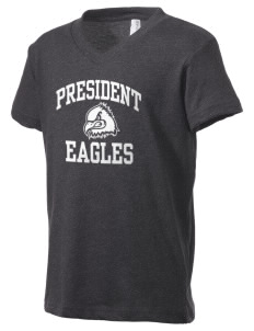 President Elementary School Eagles Kid's V-Neck Jersey T-Shirt