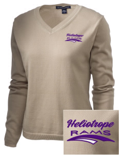 Heliotrope Elementary School Rams Embroidered Women's V-Neck Sweater