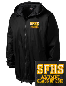 San Fernando High School Tigers Embroidered Dickies Men's Fleece-Lined Hooded Jacket