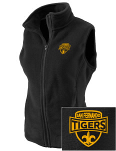 San Fernando High School Tigers Embroidered Women's Fleece Vest