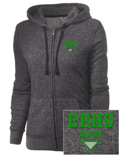 Eagle Rock High School Eagles Embroidered Women's Marled Full-Zip Hooded Sweatshirt
