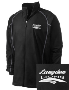 Langdon Elementary School Lions Embroidered Men's Nike Golf Full Zip Wind Jacket