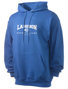 Langdon Elementary School Lions Men's 7.8 oz Lightweight Hooded Sweatshirt