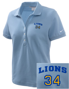 Lemay Elementary School Lions Embroidered Nike Women's Pique Golf Polo