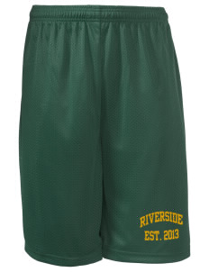 "Riverside Elementary School Raccoons Long Mesh Shorts, 9"" Inseam"