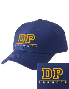 Dos Palos High School Broncos  Embroidered New Era Adjustable Structured Cap