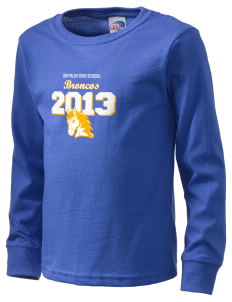 Dos Palos High School Broncos  Kid's Long Sleeve T-Shirt