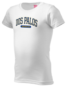 Dos Palos High School Broncos  Girl's Fine Jersey Longer Length T-Shirt