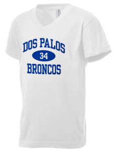 Dos Palos High School Broncos Kid's V-Neck Jersey T-Shirt