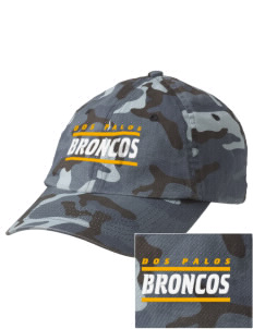 Dos Palos High School Broncos Embroidered Camouflage Cotton Cap