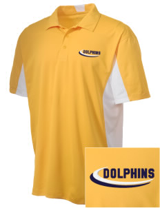 Napa Valley Language Center Dolphins Embroidered Men's Side Blocked Micro Pique Polo