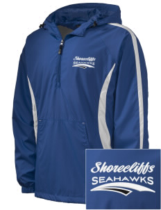Shorecliffs Middle School Seahawks Embroidered Men's Colorblock Raglan Anorak
