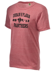 Urbain H Plavan Elementary School Panthers Alternative Unisex Eco Heather T-Shirt