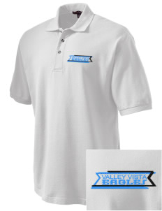 Valley Vista High School Eagles Embroidered Tall Men's Pique Polo