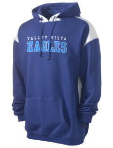 Valley Vista High School Eagles Men's Pullover Hooded Sweatshirt with Contrast Color