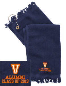 Valencia Elementary School Oranges  Embroidered Grommeted Finger Tip Towel