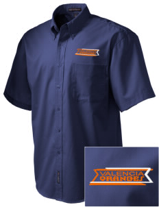 Valencia Elementary School Oranges Embroidered Men's Easy Care Shirt