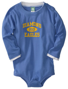 Diamond Elementary School Eagles  Baby Long Sleeve 1-Piece with Shoulder Snaps