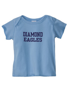 Diamond Elementary School Eagles  Baby Lap Shoulder T-Shirt
