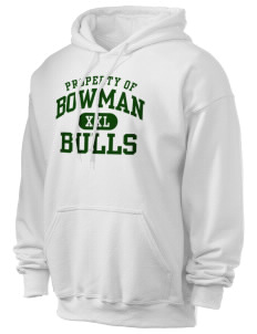 Bowman Elementary School Bulls Ultra Blend 50/50 Hooded Sweatshirt