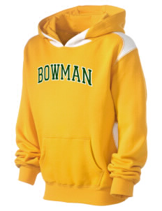 Bowman Elementary School Bulls Kid's Pullover Hooded Sweatshirt with Contrast Color