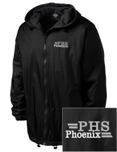 Phoenix High School Phoenix Embroidered Dickies Men's Fleece-Lined Hooded Jacket