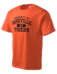 Roseville High School Tigers Champion Men's Tagless T-Shirt