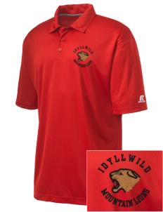 Idyllwild School Mountain Lions Embroidered Russell Coaches Core Polo Shirt