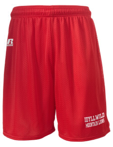 "Idyllwild School Mountain Lions  Russell Men's Mesh Shorts, 7"" Inseam"