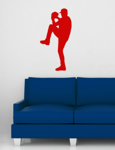 "Palm Desert High School Aztecs Wall Silhouette Decal 20"" x 32"""