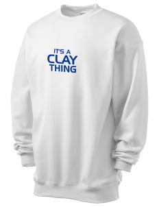 Clay High School Blue Devils Men's 7.8 oz Lightweight Crewneck Sweatshirt